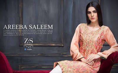 Areeba Saleem kurti embroidered collection'17