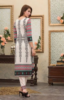 Batik stylish summer women lawn dresses collection