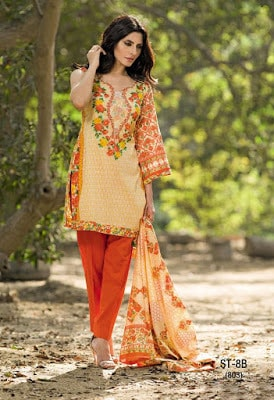 Cute Summer Lawn Dresses for Women 2018 by Shariq