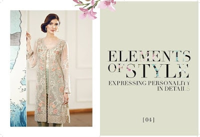 Element of Style Chiffon Embroidered Suits