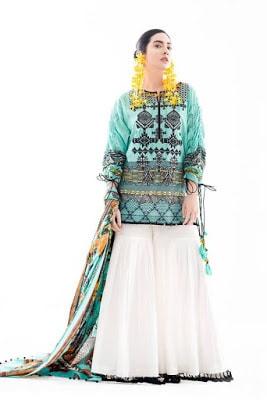 Ethnic Summer Unstitched Renaissance Lawn Dresses 2018 Collection