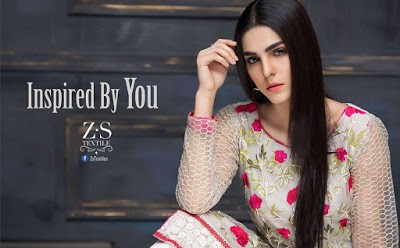 Inspired by you ZS textile summer wear kurti designs for girls 2017
