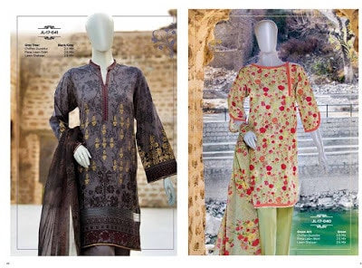 Junaid Jamshed new prints of lawn, cotton, silk and chiffon dresses