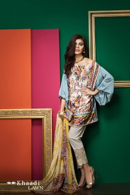 Khaadi-latest-summer-lawn-designs-satin-collection-2017-for-girls-9
