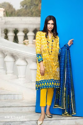 Khaadi-summer-lawn-prints-embroidered-shirt-2017-collection-1