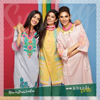 Khaadi latest and stylish kurti designs dress 2017