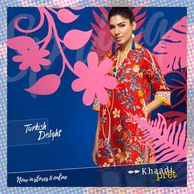 Khaadi turkish delight summer kurta dresses for women