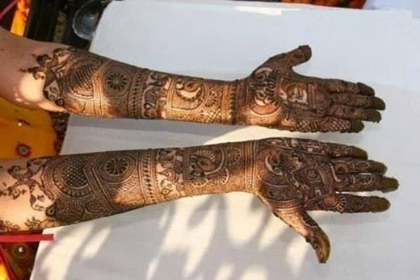 Traditional Bridal Mehndi Designs For Full Hands Front And Back