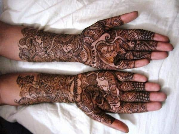 Bridal henna mehndi design for wedding