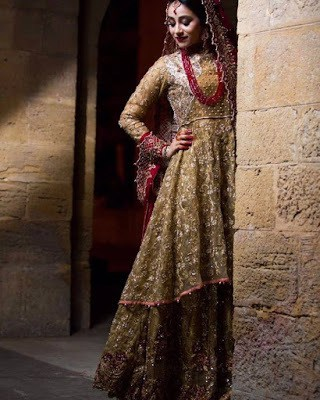 Latest Bridal Walima Dresses Collection 2018-19 for Wedding
