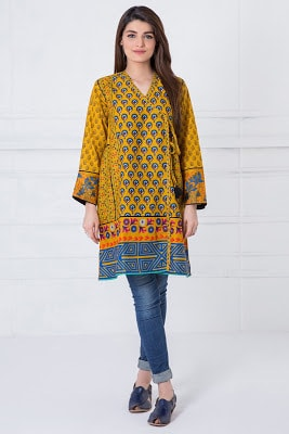 Latest summer lawn kurti dresses design 2017