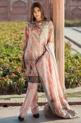 Mausummery new pakistani unstitch lawn Dresses 2018