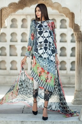 Mausummery summer stero rose lawn print Dresses 2018