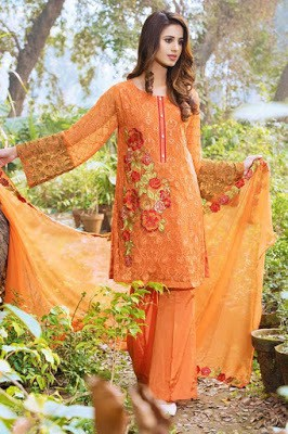Motifz embroidery dresses Collection 2018