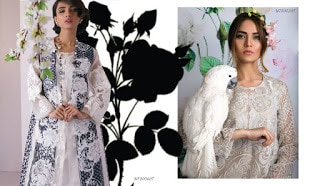 New Sana Safinaz lawn Collection 2018 for summer