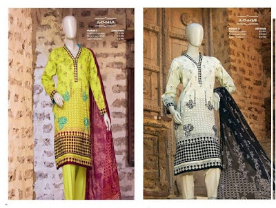 New summer lawn, silk and chiffon prints 2017 by junaid jamshed