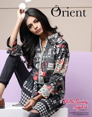 Orient Hello Spring Summer Digital Kurti Lawn Print 2017 Collection