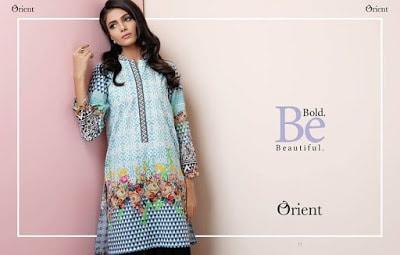 Orient digital spring Lawn 2018 stylish designer kurtis