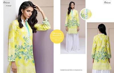 Orient spring lawn print ladies kurta design