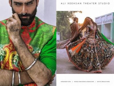 Pakistani designer Ali Xeeshan bridal lehenga dresses designs & styles