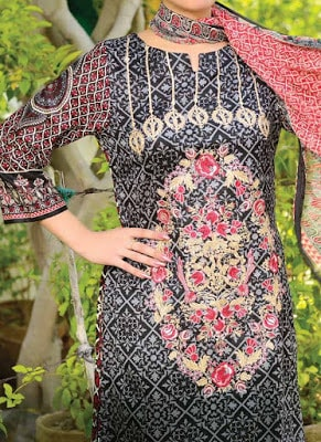 Reshma embroidered lawn dresses for Women 2018 vol-1
