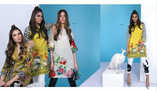 Sana safinaz latest Lawn 2018 prints and summer collection