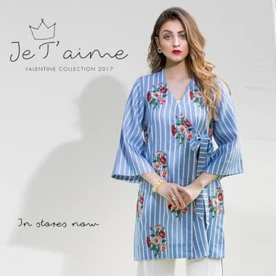 Sapphire Floral Kurta Dresses for Valentines Day 2017