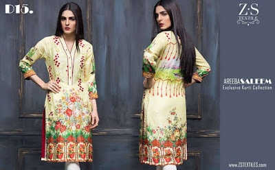 Stylish kurti lawn Collection 2018 by ZS Textiles