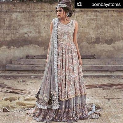 Umsha by uzma babar latest bridal wear dresses Designs 2018