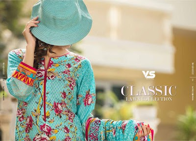 VS Textiles classic lawn Collection 2018 for girls