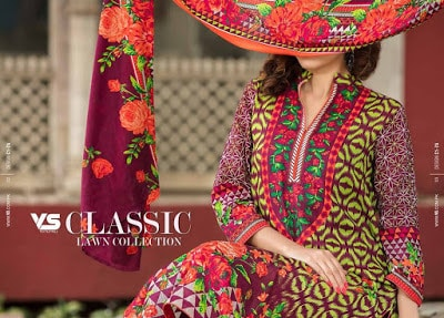 VS summer lawn dresses for Women 2018 vol-1