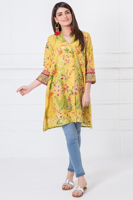 latest and stylish kurti designs dress 2017 by Khaadi