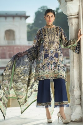 latest pakistani summer lawn collection by Mausummery