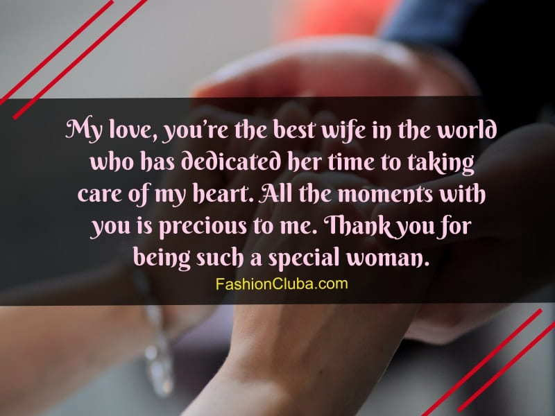 nice love messages for wife from husband