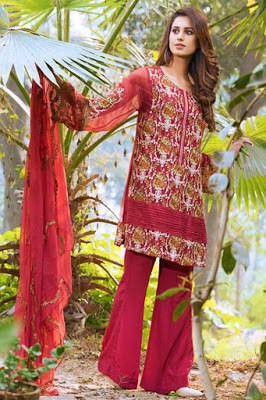 motifz summer embroidered chiffon Suits 2018