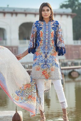 pakistani summer unstitch lawn dresses