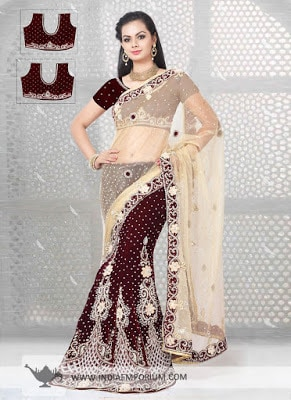Desirable Net & Velvet Lehenga Saree with Lace Work