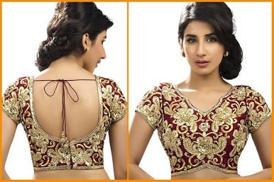 Fancy-saree-blouse-back-neck-designs-pattern-for-women-4