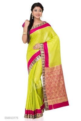 Green Mysore Silk Saree