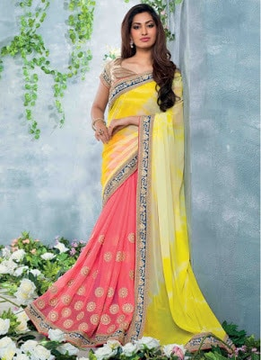 Latest bridal lehenga saree designs