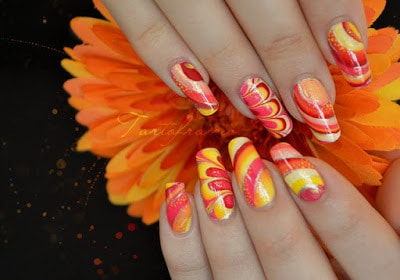 Nail polish designs with water step by step