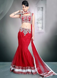 Perfect-Indian-mermaid-or-fish-cut-lehenga-designs-choli-fashion-10