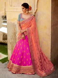 Perfect-Indian-mermaid-or-fish-cut-lehenga-designs-choli-fashion-12