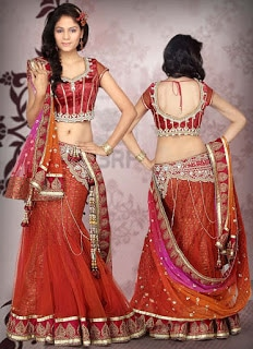 Perfect-Indian-mermaid-or-fish-cut-lehenga-designs-choli-fashion-1