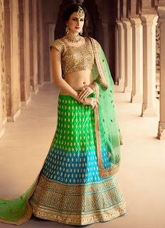 Perfect-Indian-mermaid-or-fish-cut-lehenga-designs-choli-fashion-2