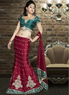Perfect-Indian-mermaid-or-fish-cut-lehenga-designs-choli-fashion-9