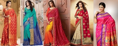 Traditional-indian-banarasi-silk-saree-new-styles-for-girls-3