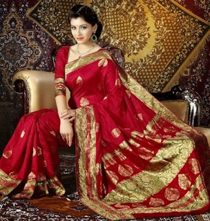 Traditional-indian-banarasi-silk-saree-new-styles-for-girls-1
