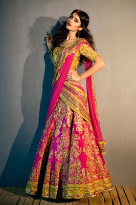 bridal lehenga choli designs for wedding
