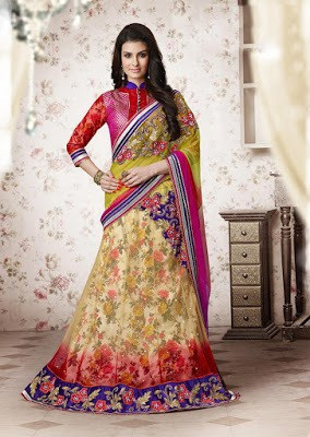 cream-designer-lehenga-style-saree-for-wedding-wear